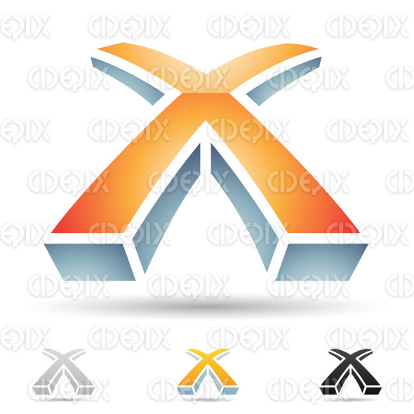 abstract designs and logo icons for letter X  set 5 stock vector    X Letter Logo