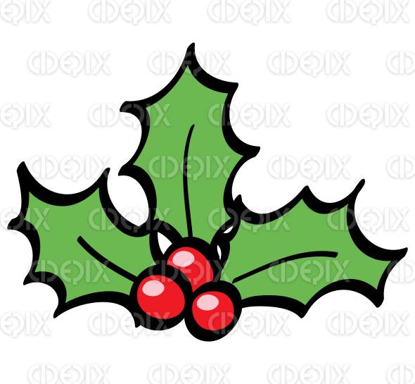 line art holly berries cartoon stock illustration
