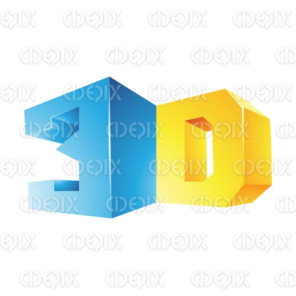 Blue and Yellow Shiny 3d Technology Symbol stock illustration