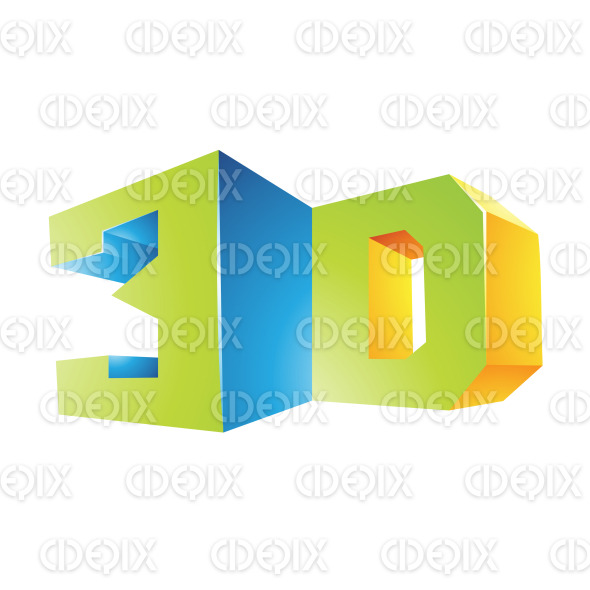 Blue Green and Yellow Shiny 3d Technology Symbol stock illustration