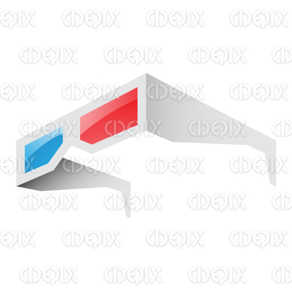 3d Red and Blue Anaglyph Glasses stock illustration