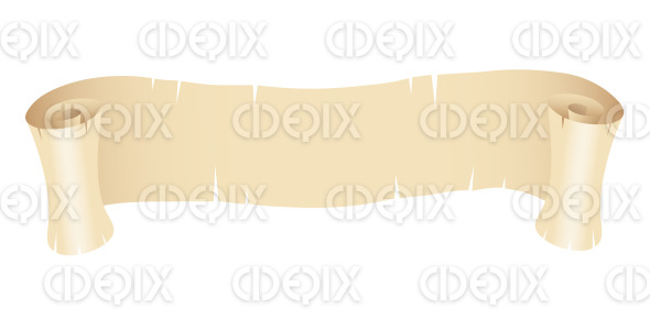 Grunge Beige Paper Banner stock illustration