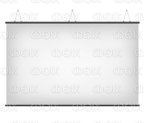 White Canvas Display Banner stock illustration