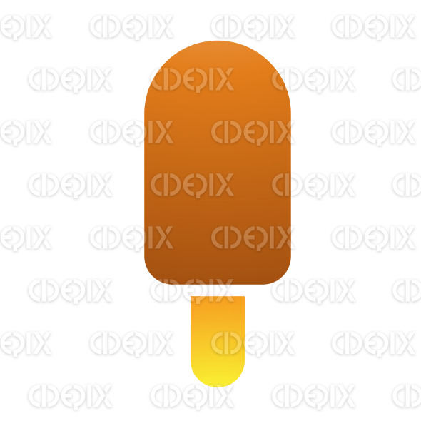 Brown Milk Chocolate Ice Cream Stick stock illustration
