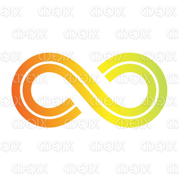Orange Retro Style Infinity Symbol Design stock illustration