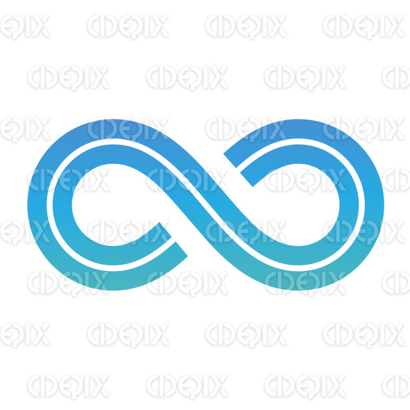 Blue Retro Style Infinity Symbol Design stock illustration