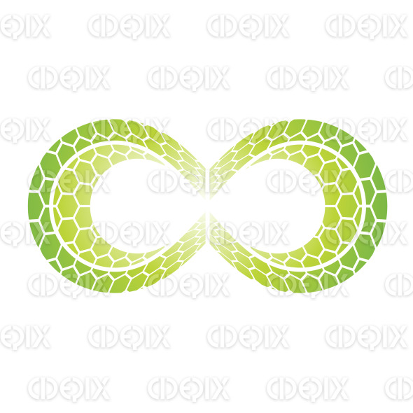 Green Honeycomb Hexagon Infinity Symbol Design stock illustration