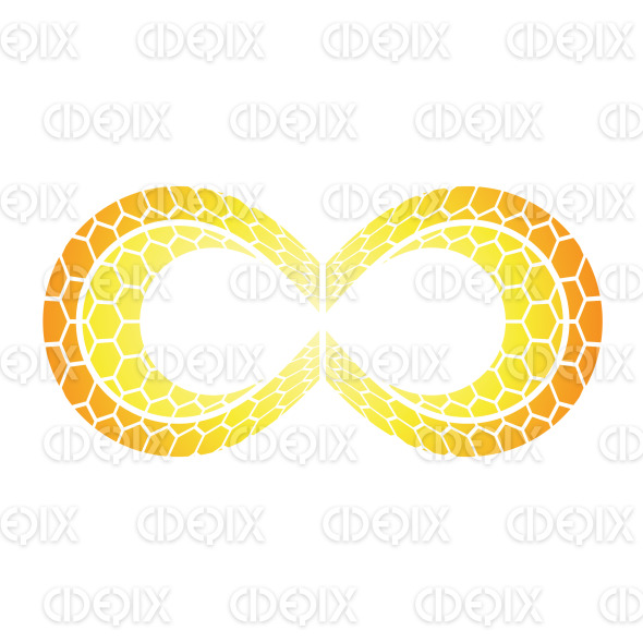 Orange Honeycomb Hexagon Infinity Symbol Design stock illustration