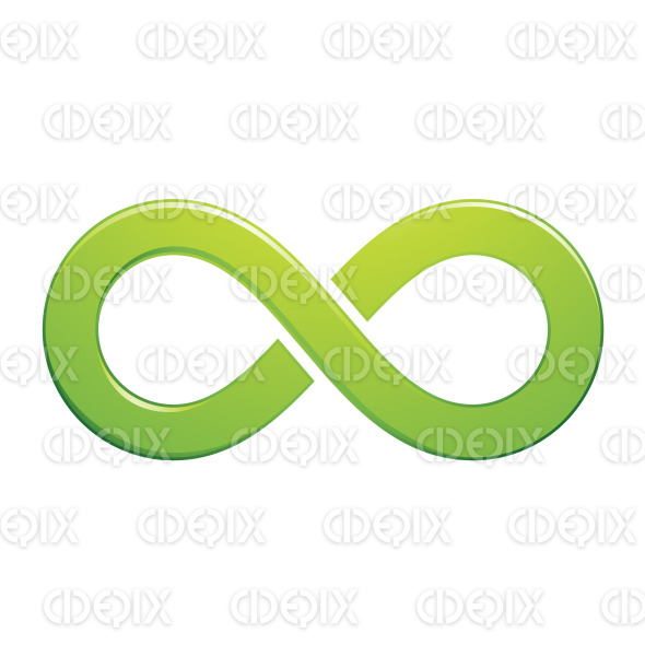 Green Embossed Infinity Symbol Design stock illustration
