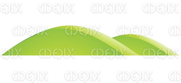 Cartoon Green Hills Nature Landscape stock illustration