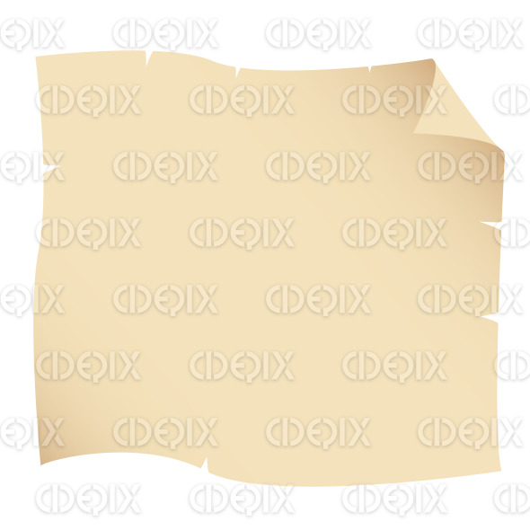 Beige Color Old Ripped Grunge Paper stock illustration