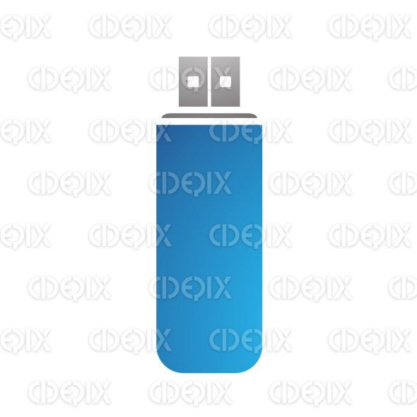 Grey and Blue PC Accessories Usb Stick stock illustration