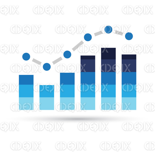 Blue Stats Bars Icon stock illustration