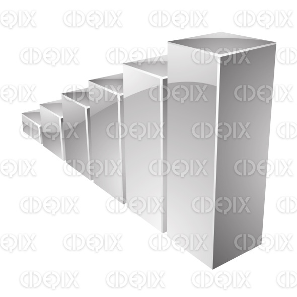 Grey Glossy Metallic Stats Bars Icon stock illustration