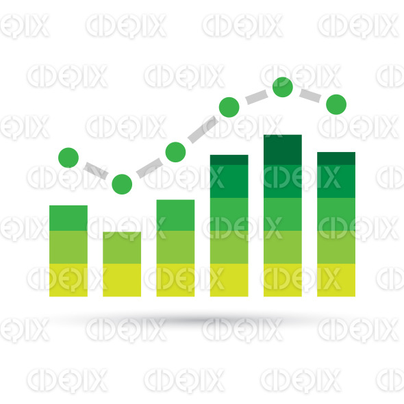 Green Stats Bars Icon stock illustration