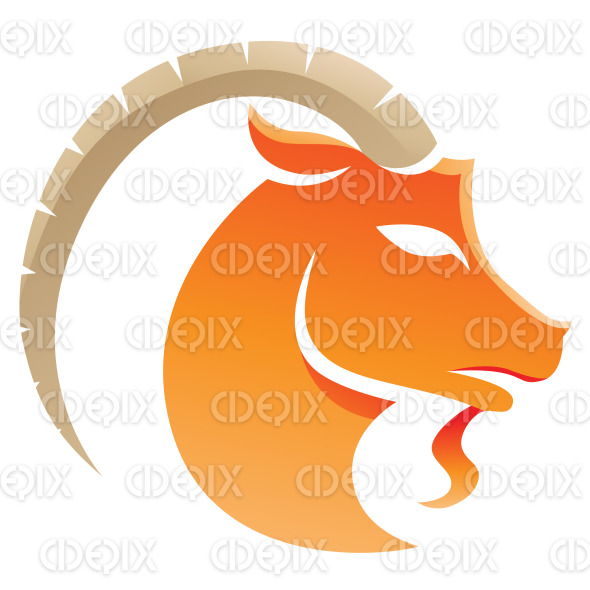 Earth Element Orange Capricorn Zodiac Star Sign stock illustration
