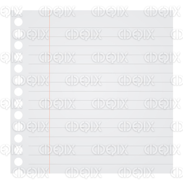Notebook Paper Vector Illustration stock illustration