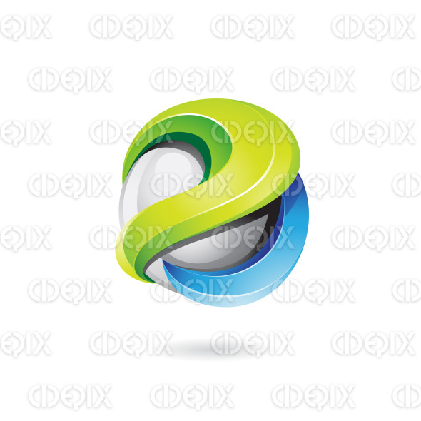 3d Glossy Logo Icon Vector Illustration stock illustration