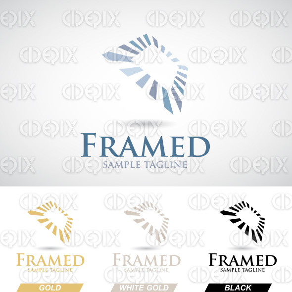 Square Frame Logo Icon in Various Colors stock illustration