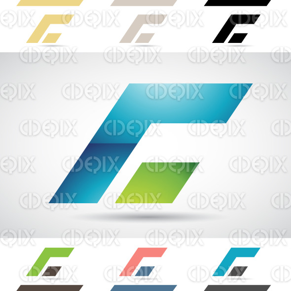 Logo Shapes and Icons of Letter C stock illustration