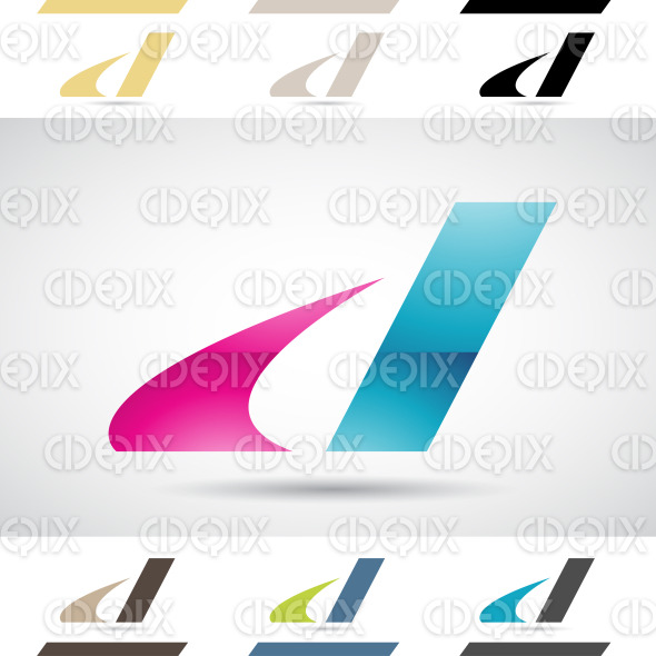 Logo Shapes and Icons of Letter D stock illustration