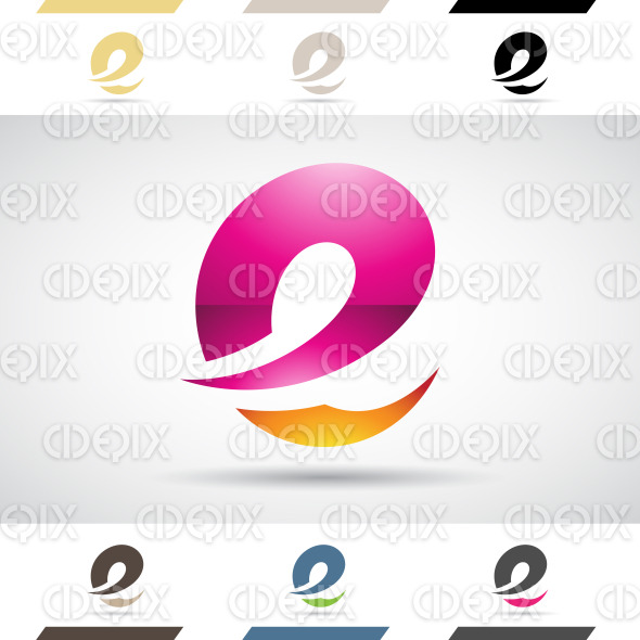 Logo Shapes and Icons of Letter E stock illustration
