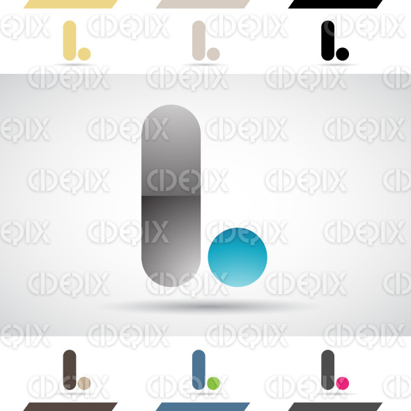 Logo Shapes and Icons of Letter L stock illustration