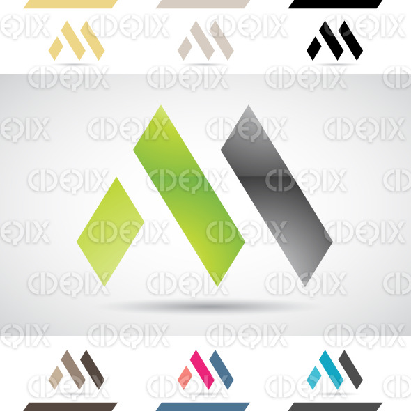 Logo Shapes and Icons of Letter M stock illustration