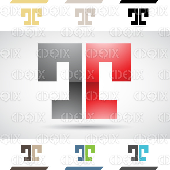 Logo Shapes and Icons of Letter T stock illustration