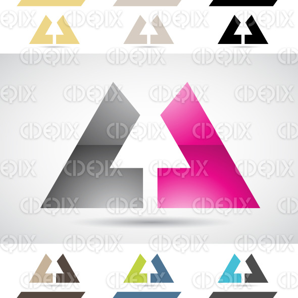 Logo Shapes and Icons of Letter U stock illustration
