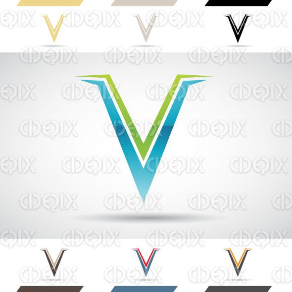 Logo Shapes and Icons of Letter V stock illustration