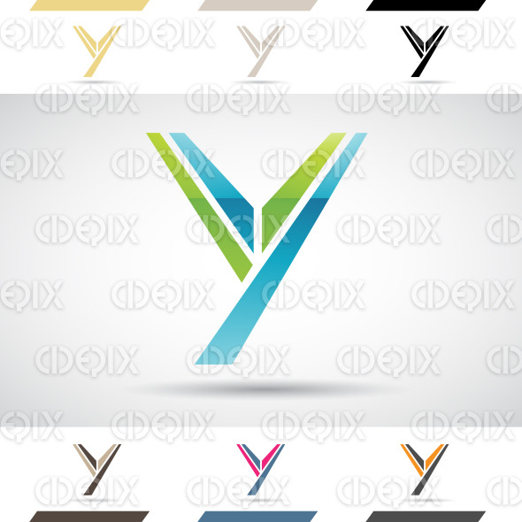 Logo Shapes and Icons of Letter Y stock illustration