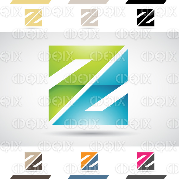 Logo Shapes and Icons of Letter Z stock illustration