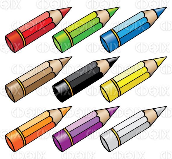 cartoon color pencils | Cidepix