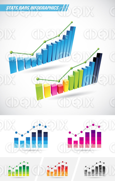 Stats Bars stock illustration