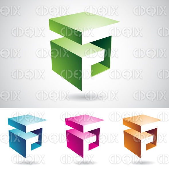 Cubical Shape of Letter A stock illustration