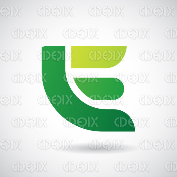 Logo Shape and Icon of Letter E, Vector Illustration stock illustration