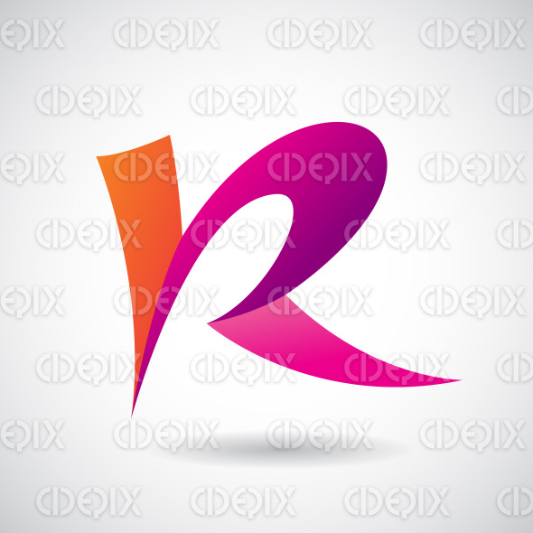 Logo Shape and Icon of Letter R, Vector Illustration stock illustration