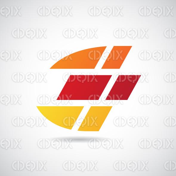Logo Shape and Icon of Letter E, Vector Illustration stock illustration