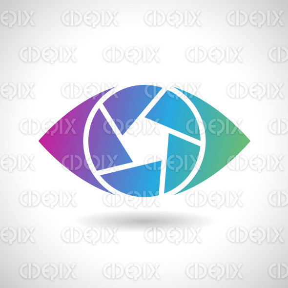 Logo Icon of a Shutter Eye Vector Illustration stock illustration