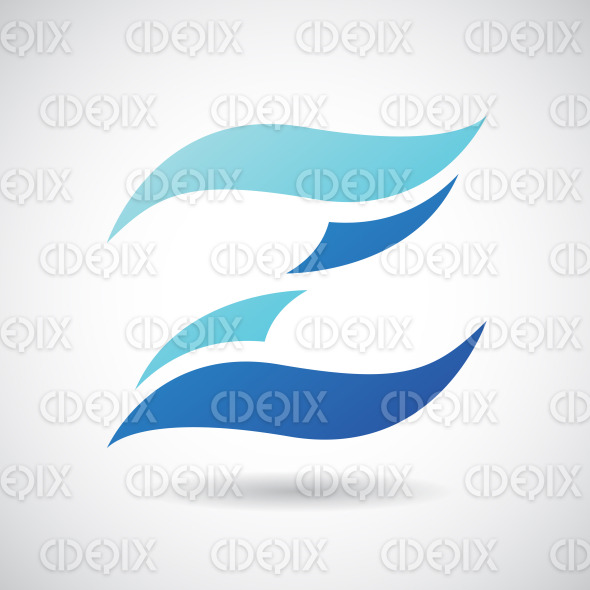 Logo Shape and Icon of Letter Z, Vector Illustration stock illustration