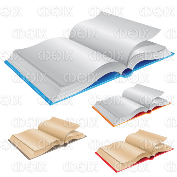 New and Old Open Books stock illustration