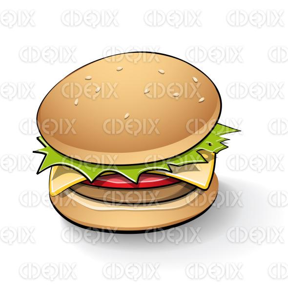 Tasty Burger Cartoon stock illustration