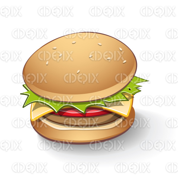 Tasty Burger Cartoon stock illustration