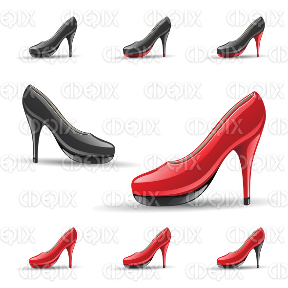High Heel Shoes stock illustration