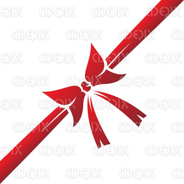 simplistic red ribbon design stock illustration