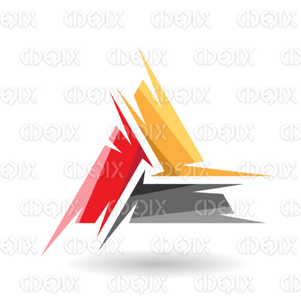 Colorful Abstract Triangle Symbol of Letter A stock illustration